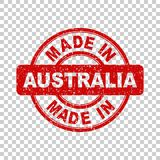Hecho en el sello rojo de Australia Fotos de archivo libres de regalías