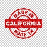Hecho en el sello rojo de California Fotos de archivo libres de regalías