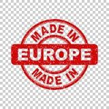 Hecho en el sello rojo de Europa Foto de archivo libre de regalías