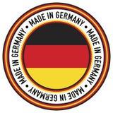 Hecho en etiqueta de la circular de Alemania Imagen de archivo libre de regalías