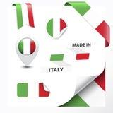 Hecho en la colección de Italia stock de ilustración