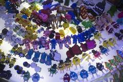 Hecho en la cubierta del palillo de China USB y otros juguetes de la tecnología disponibles para la venta Imágenes de archivo libres de regalías