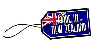 Hecho en la etiqueta de Nueva Zelanda Imágenes de archivo libres de regalías