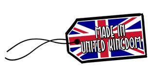 Hecho en la etiqueta de Reino Unido Foto de archivo