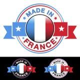 Hecho en la insignia de Francia Fotografía de archivo libre de regalías