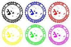 Hecho en las islas de las Islas Galápagos - sello de goma - vector, libre illustration