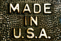 Hecho en los E.E.U.U. Imagen de archivo libre de regalías