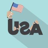 Hecho en los E.E.U.U. escoja la insignia Imagen de archivo