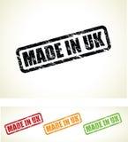 Hecho en los sellos británicos Imagen de archivo libre de regalías