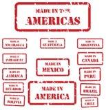 Hecho en los sellos de América Imagenes de archivo