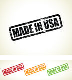 Hecho en los sellos de los E.E.U.U. Imágenes de archivo libres de regalías