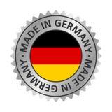 Hecho en plata de la insignia de la bandera del icono de Alemania stock de ilustración