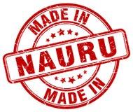 hecho en sello rojo del grunge de Nauru