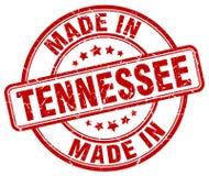 hecho en sello rojo del grunge de Tennessee stock de ilustración