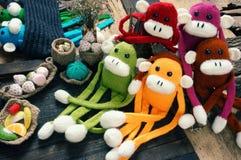 Hecho a mano, mono, Feliz Año Nuevo 2016, animal divertido Imagenes de archivo