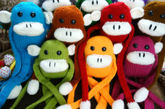 Hecho a mano, mono, Feliz Año Nuevo 2016, animal divertido Foto de archivo libre de regalías