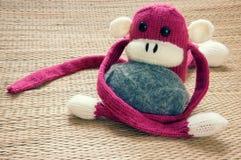 Hecho a mano, mono, Feliz Año Nuevo 2016, animal divertido Fotografía de archivo