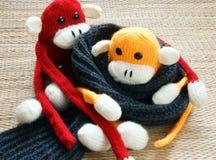 Hecho a mano, mono, Feliz Año Nuevo 2016, animal divertido Fotos de archivo libres de regalías