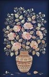 Hecho a mano, rosas hechas de la paja Fotografía de archivo