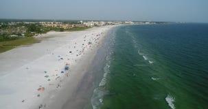 Hecho: Muchedumbre de la playa almacen de metraje de vídeo