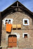 Hecho valley village stone streets in Pyrenees Royalty Free Stock Photos