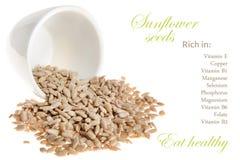 Hechos de la nutrición de las semillas de girasol fotos de archivo libres de regalías