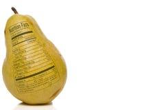 Hechos de la nutrición de la pera Imagen de archivo libre de regalías