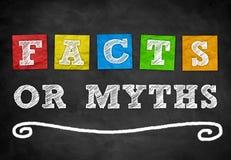 Hechos o mitos fotografía de archivo