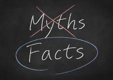 Hechos y mitos imagen de archivo