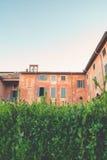 Hecke und altes Haus Lizenzfreie Stockbilder