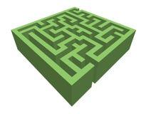 Heckenlabyrinth Stockbild