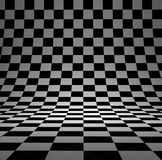 Сhecker 3D studio. Black and white checker 3D studio background Stock Images