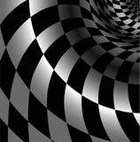 Сheckered abstrakt begreppbakgrund med perspektiv Royaltyfri Bild