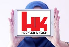 Heckler & Koch defense manufacturing company logo royalty free stock photography