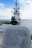 The Hector. Pictou, Nova Scotia - August 20th, 2011: Replica of The Hector which is famous for having brought the first Scottish settlers to Nova Scotia in 1773 Stock Images