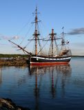 The Hector. Replica of the ship that brought scottish settlers to Pictou, Nova Scotia, Canada in the 18th Century stock image