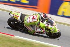 Hector Barbera racing Royalty Free Stock Photos