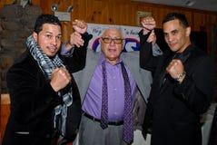 Hector Camacho, JR, Elvin Ayala y Jimmy Burchfield fotos de archivo libres de regalías
