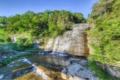 Hector Falls, Vingermeren, NY Royalty-vrije Stock Fotografie