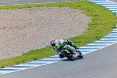 Hector Faubel πειραματικό 125cc του MotoGP Στοκ Φωτογραφίες