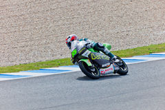 Hector Faubel πειραματικό 125cc του MotoGP Στοκ Εικόνες