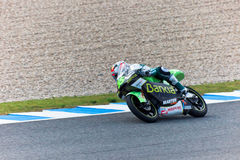 Hector Faubel πειραματικό 125cc του MotoGP Στοκ εικόνες με δικαίωμα ελεύθερης χρήσης
