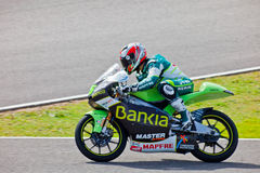 Hector Faubel pilot of 125cc  of the MotoGP Stock Image