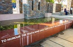 Hector Pieterson Memorial Museum exterior em Soweto Joanesburgo fotografia de stock