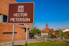 Hector Pieterson Memorial Museum exterior en Soweto Johannesburgo Fotos de archivo libres de regalías