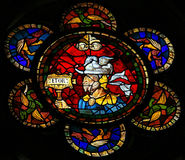 Hector, Prince of Troy. Stained glass window depicting Hector, Trojan prince and greatest fighter for Troy in the Trojan War. This window is located in the Royalty Free Stock Photography
