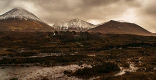 Hed på ön av Skye royaltyfri fotografi