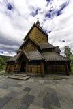 Heddal梯级教会在挪威 免版税库存图片