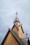 Heddal梯级教会,挪威 免版税库存照片