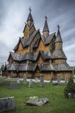 Heddal梯级教会(挪威) 库存图片